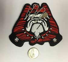 "Georgia Bulldogs Embroidered Iron On Patch  3 1/2""x 3"" GLOVES SHAPE!"