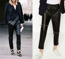ZARA S M 40 FAUX LEATHER JOGGING TROUSERS PANTS JOGPANTS LEDEROPTIK Lederhose