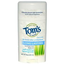 Tom's Of Maine Lemongrass Deodorant - Aluminum Free - 24 HR Protection  64g