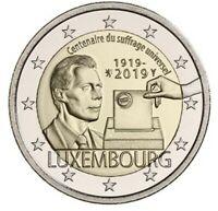 2 Euro Luxemburg 2019 100 Jahre allgemeines Wahlrecht