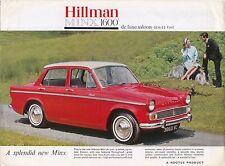 Hillman Minx 1600 De Luxe Saloon Series V Original UK Sales Brochure No. 1001/H