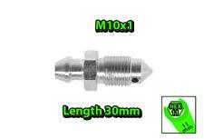 M10x1 HEX11 L30mm BLEEDER NIPPLE SCREW BRAKE CALIPER DRUM OR CLUTCH