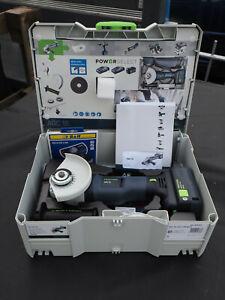 Festool 577031 18V 1x5.2Ah 125mm Cordless Angle Grinder + Full Shroud **UNUSED**