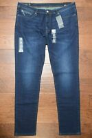 Armani Exchange A|X Men's Tapered Fit Stretch Cotton Dark Blue Jeans 40R