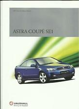 VAUXHALL ASTRA SE1 SPECIAL EDITION MODEL CAR SALES BROCHURE MAY 2001