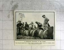 1919 French Barb Wire Cutters, Miniature Precursor Of Tank