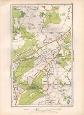 1936 Mappa di grande scala-Londra ottershaw West byfleet Maybury pyrford spratto Riga