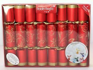 Robin Reed H0 Christmas Birthday Wedding 8pc 13in Themed Crackers - Wine Charms