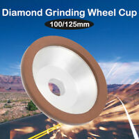 100, 125mm Diamond Grinding Wheel Cup 180# Cutter Grinder For Metal Carbide Tool