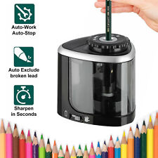 Electric Pencil Sharpener Automatic Touch Switch School Office Classroom Tool