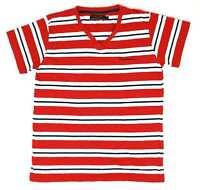 Pierre Cardin Red Striped Cotton Womens T-Shirt Size M (Regular)