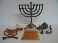 558) Konvolut Miniaturen Menora Taschen Altar 3 Affen Glocke 800er Figuren uvm.