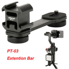 PT-3 Microphone Extension Bar 3 Cold Shoe Mounts L Bracket for DJI OSMO Canon DV