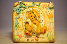 Cherished Teddies: Quilts Of Friendship - 627372F A Friend is A Treasure Plaque