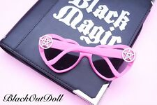 Pentagram Pentacle Cross Heart Shaped Sunglasses Shades Punk Pastel Goth Grunge