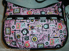 NWT LeSportsac 7520 Classic Hobo Bag TICK TOCK 7520 3975