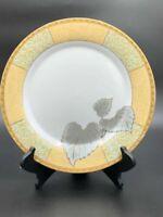 Ruby Fine Porcelain leaf Design Multicolored Dinner Plates (set Of 4)