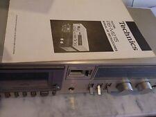 pletina cassette Technics M215.  Manual de instrucciones