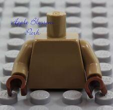 NEW Lego Minifig Plain DARK TAN TORSO - Star Wars Blank Body Upper w/Brown Hands