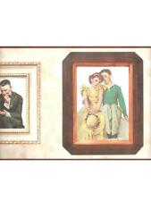NORMAN ROCKWELL -COUPLES IN FRAMES WALLPAPER BORDER