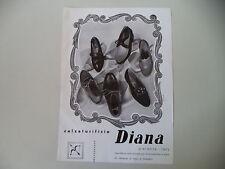 advertising Pubblicità 1950 SCARPE CALZATURIFICIO DIANA - PIACENZA