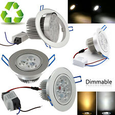 Dimmable 3W 5W LED Recessed Ceiling Down Spot Light Bulb Lamp AC85-265V DC12V