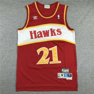 Retro Dominique Wilkins #21 Atlanta Hawks Swingman Basketball Jersey