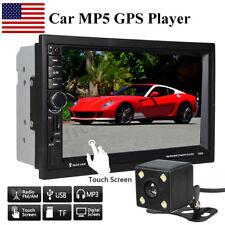 7'' 2DIN Touch Screen HD Car MP5 Player GPS Bluetooth USB TF + Car Rear Camera