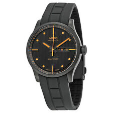 Mido Multifort Black Dial Rubber Strap Automatic Mens Watch M0054303705180