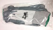 """NEW -12 PAIR """"ULTRA TECH""""  NITRILE / NYLON GLOVES W/ KNIT CUFF - EXTRA LARGE"""