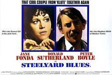 STEELYARD BLUES Movie POSTER 27x40 Jane Fonda Donald Sutherland Peter Boyle
