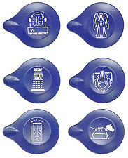 DR WHO DOCTOR WHO CAKE COFFEE SHOP HOT CHOCOLATE DUSTING STENCIL KIT 6 DESIGNS