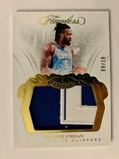 DEANDRE JORDAN 2017-18 PANINI FLAWLESS GAME WORN PATCH GOLD 09/10 GOLD