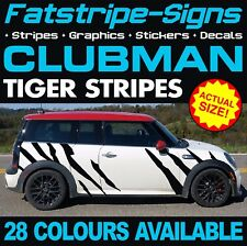 MINI CLUBMAN GRAPHICS TIGER STRIPES DECALS STICKERS TURBO R55 F54 1.6 2.0 ALL4
