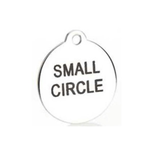 Stainless Steel Pet ID Tag Custom Message On Two Sides - 2 Sizes Available