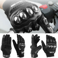 Motorcycle Gloves Touchscreen Leather Motocross Sport Bike Racing Off-road