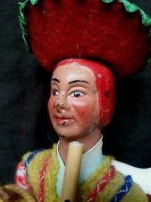 "Old South American native hand made rag doll 9"" tall"