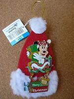 Disney Merry Christmas 2009 LE pin* Minnie mouse Sparkle Dangle Santa Hat pin