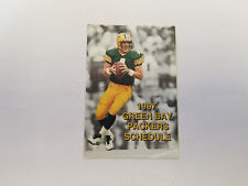 Green Bay Packers 1997 NFL Football Pocket Schedule - Community Health Education