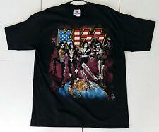 Vintage KISS Band Concert T-Shirt Destroyer Reunion Tour 1997 Cities XL UNWORN
