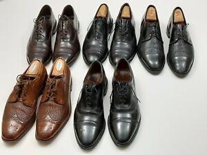 LOT 5 Allen Edmonds Split-Toe Lace-up Oxford Wingtip Dress Shoes Men's Size 10 D