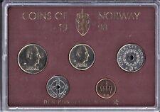 Norway Unc-set 1998 (5coins)