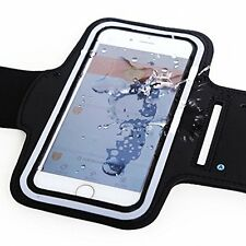 iPhone Armband, Running Sports Phone Holder up to 5.5 Inches Arm Band - Black