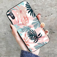 Retro Leaf Hard Phone Cover Case For iPhone 7 8 Samsung Huawei Mate 20 Lite P10