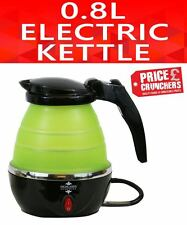 Small Travel Electric Foldable Kettle Caravan Camping Kitchen 0.8 L 1000W Lime