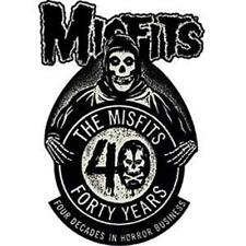 OFFICIAL LICENSED - MISFITS - 40TH ANNIVERSARY SEW-ON PATCH ROCK PUNK DANZIG