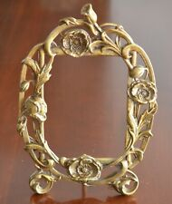 "Fantastic Art Nouveau Antique Bronze Picture Frame   13 3/4""  x  9 1/4"""