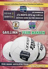 GAA - Galway v Fermanagh Allianz Football League 2016 Programme - Tuam Stadium