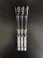 GOLF PRIDE MCC PLUS 4 GRIPS Grey/Black X3 MIDSIZE With Tape And Instructions
