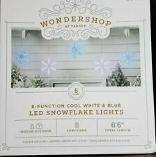 5 Cool White/Blue LED Snowflakes Christmas Light Lightshow w/ 8 Function